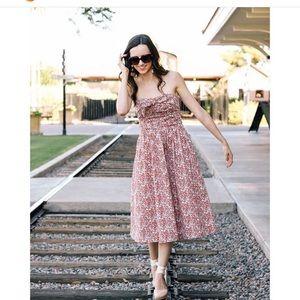 Jcrew strapless floral dress